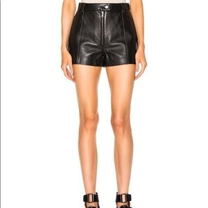 Zara Faux Leather Shorts